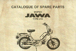 Moped JAWA type 210. Catalogue of spare parts.