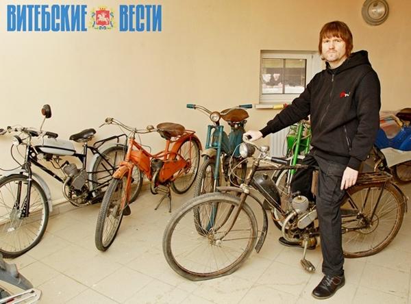 Коллекцию советских мопедов собрал житель Витебска