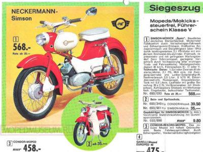 Мокик Simson «Spatz» (Neckermann) (1967-1968)