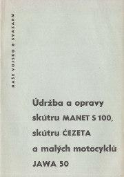 Udrzba a opravy skutru MANET S 100, skutru Cezeta a malych motocyklu JAWA 50.