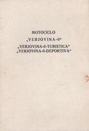 Motociclo Verjovina-6, Verjovina-6-Turistica, Verjovina-6-Deportiva.