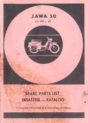 JAWA 50 typ 20 a 21. Spare Parts List. Ersatzteil - Katalog.