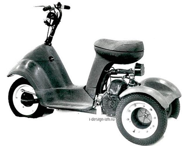 Макет трехколесного скутера