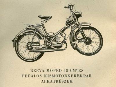 Мопед VT50 Berva. Каталог деталей
