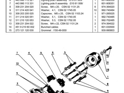 Moped «Jawa» type 210. Catalogue of spare parts