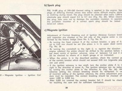 «Jawa» 90 typ 36, 37. Handling instructions